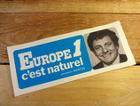 "Autocollant ""Europe 1 c'est naturel - Jacques Martin"""