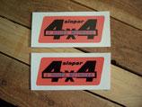 """Autocollants deco Renault 4 """"4x4 roues motrices Sinpar"""""""