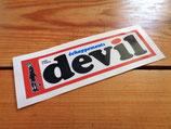 """Autocollant """"Devil"""" (version avec personnage diable)"""