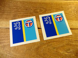 "2 autocollants ""Logo Peugeot / Talbot"""