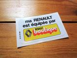 """Autocollant """"Ma Renault est équipée par Renault boutique"""""""