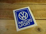 "Autocollant ""VW Motor Sport"""