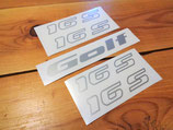 "Kit autocollants monogrammes ""Golf 16S"" VW Golf 2 GTI 16S"