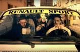"""Bandeau pare-soleil autocollant """"Renault Sport"""" jaune"""