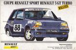"""Bandeau autocollant """"Coupe Renault Sport Renault 5 GT Turbo"""""""