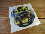 """Autocollant """"Allez les Renault!"""" camions Renault 1980"""