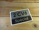 """Autocollant """"2cv6 Special"""" de hayon"""