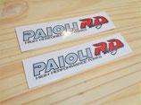 """Autocollants """"Paioli"""" de fourche MBK Magnum racing XR"""