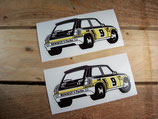"2 Autocollants ""Renault 5 Turbo"" Rallye Monte-Carlo 1981"