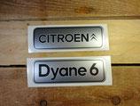 """Autocollants """"Citroën"""" et """"Dyane 6"""" logos de hayon"""