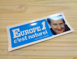 "Autocollant ""Europe 1 c'est naturel - Pierre Bellemare"""