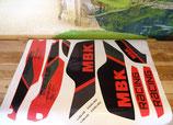 "Kit deco autocollant ""Magnum racing"" rouge AM 1991-92"