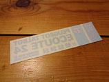"""Autocollant """"Assistance Ecoute 24"""" de lunette arrière 1983-86"""