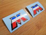 Autocollants logo M chrome Motobecane (la paire)