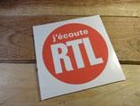 """Autocollant """"J'écoute RTL"""""""