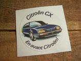 """Autocollant rond """"Citroen CX. En avant Citroën!"""""""