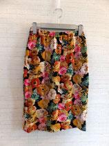 花柄ストレッチタイトスカート