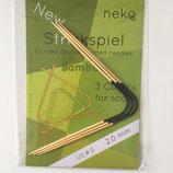 Neko - Aiguilles doubles pointes courbes en bambou et métal