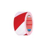 Marking tape, red/white, adhesive