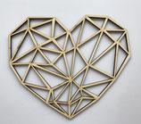Houten hart geometrisch