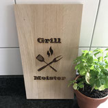 Cutting board grill meister