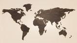 World map Grey Wash