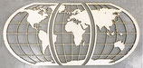 Houten wereld kaart driedelig