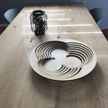 Wooden fruit bowl cirkel