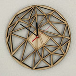 Houten klok geometrisch