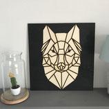 Wolf geometrisch 62 X 62 cm