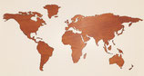 Wereldkaart Teak