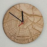 Houten klok Amsterdam