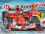 "Ferrari F2003-GA ""Red Shark"" Michael Schumacher Collage"