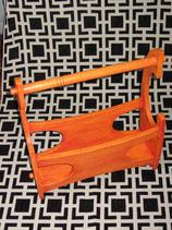 Porte-revues en chêne orange