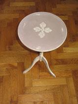 Table de nuit / bout de canapé cappucinno/blanc cassé