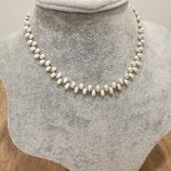 Ref.: 00009 Collar de perlas naturales y separadores de plata 925