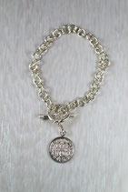 Ref.: 00307 Pulseras en plata925 con medalla