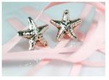 Ref.: 00321 Aretes de plata. Modelo Estrella de Mar