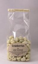 Cranberries in weißer Schokolade 150g