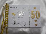 Gästebuch goldene Hochzeit Metallic A5 Herzen gold