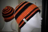 Mütze Orangeringel