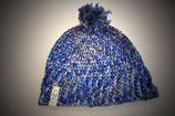 Mütze in Blautönen
