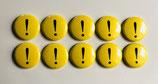 10 Magnetbuttons Ausrufezeichen ø 2,5cm