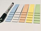 25 beschreibbare Magnetstreifen 80 x 20mm oder 100 x 30mm in verschiedenen Farben inkl. Stabilo Stift