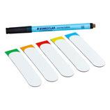 50 bunte beschreibbare Magnetstreifen 100 x 20mm inkl. Staedtler Stift / beschreibbar / abwaschbar / wiederverwendbar