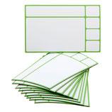 10 magnetische Karten 9,5 x 6cm in 2 Varianten und 6 verschiedenen Farben