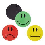 30 bunte Smiley Magnete ø 2 - 10cm