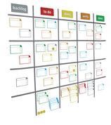 Scrum-Board Magnete V2 für Whiteboard 120 x 90 / 150x100 / 180x120
