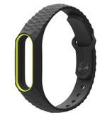Silikon-Armband mit Riffel-Optik und Farbakzent - versch. Farben