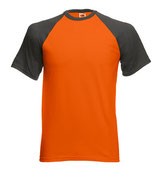 T-shirt Baseball bicolore manica corta mod. 610260